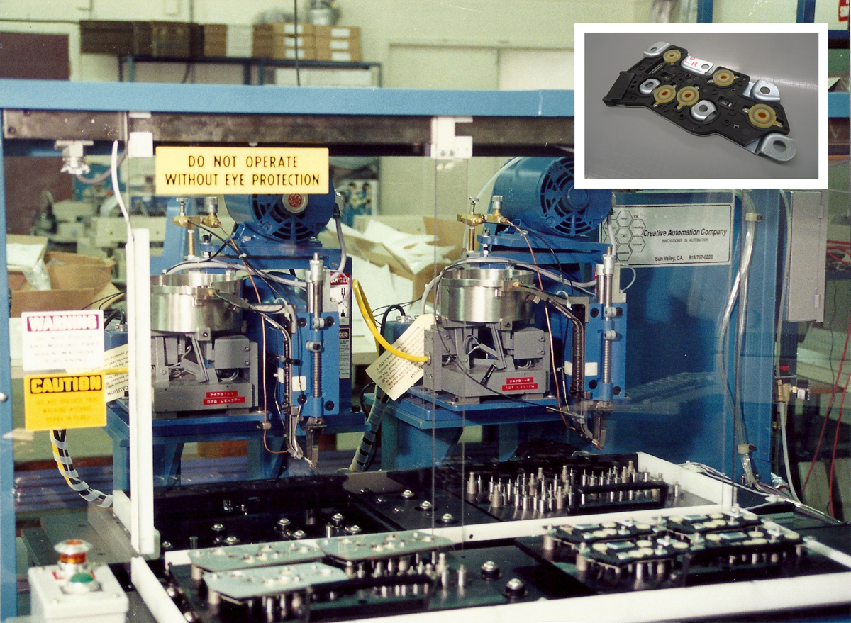 Automotive Switch Plate Riveting System