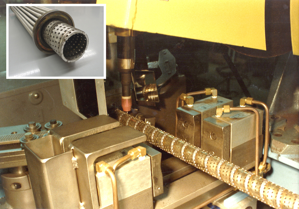 Spiral Tube Winding and Welding System